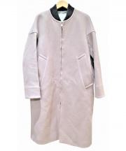 SWANLAKE(スワンレイク)の古着「リブカラーコート」