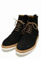 Berwick(バーウィック)の古着「ウィングチップブーツ」|ブラック