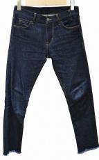 JIL SANDER(ジルサンダー)の古着「ストレッチカットオフジーンズ」|インディゴ