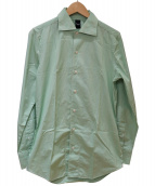 finamore(フィナモレ)の古着「カッタウェイストライプシャツ」 イエロー