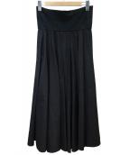 agnes b(アニエスベー)の古着「タックロングスカート」