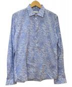 Brilla per il gusto(ブリッラ ペル イル グスト)の古着「総柄シャツ」 ブルー