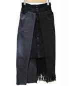 77circa(ナナナナサーカ)の古着「リメイクデニムスカート」