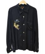 TAILOR TOYO(テーラートウヨウ)の古着「スカシャツ」 ブラック