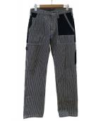 KOJIMA GENES(コジマジーンズ)の古着「ヒッコリーペインターパンツ」 インディゴ