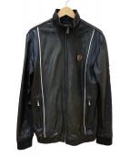 Schott(ショット)の古着「ラムレザートラックジャケット」|ブラック