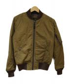 Pherrows(フェローズ)の古着「MA-1タイプ グランクルージャケット」|ブラウン