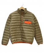Patagonia(パタゴニア)の古着「シンチラスナップTダウンジャケット」|ベージュ