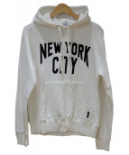 Schott × RUSSEL(ショット×ラッセル)の古着「COTTON HOODED SWEAT NEW YORK C」|ホワイト