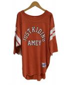 Americana(アメリカーナ)の古着「フットボールTシャツ」|レッド