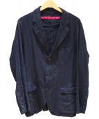 sage de cret(サージュデクレ)の古着「リネンジャケット」|ネイビー