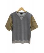 KOLOR(カラ)の古着「袖切替半袖スウェット」|グレー×カーキ