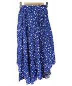 DOUBLE STANDARD CLOTHING(ダブルスタンダードクロージング)の古着「星柄マキシスカート」|ブルー