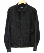 evan kinori(エヴァンキノリ)の古着「Linen Pleated Jacket」 ブラック