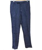 POLO RALPH LAUREN(ポロ バイ ラルフローレン)の古着「ストライプリネンパンツ」|ネイビー