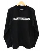 White Mountaineering(ホワイトマウンテニアリング)の古着「ロゴプリントスウェットシャツ」|ブラック