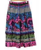 OLLEBOREBLA(アルベロベロ)の古着「総柄スカート」|パープル