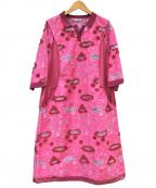 OLLEBOREBLA(アルベロベロ)の古着「ブラウスワンピース」 ピンク
