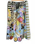 OLLEBOREBLA(アルベロベロ)の古着「総柄プリントスカート」|マルチカラー