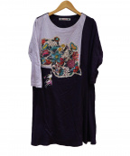 OLLEBOREBLA(アルベロベロ)の古着「カットソーワンピース」 ブルー×ネイビー