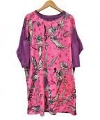 OLLEBOREBLA(アルベロベロ)の古着「総柄ワンピース」 ピンク