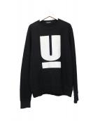 UNDERCOVER(アンダーカバー)の古着「Uロゴスウェット」|ブラック
