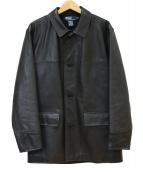 POLO RALPH LAUREN(ポロ バイ ラルフローレン)の古着「レザーカーコート」|ブラック
