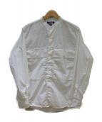THE NORTHFACE PURPLELABEL(ザノースフェイスパープルレーベル)の古着「バンドカラーシャツ」|ホワイト