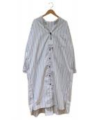 MAYSON GREY(メイソングレイ)の古着「マオカラーシャツワンピース」|ホワイト