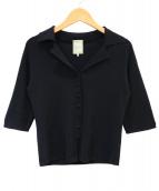 Sybilla(シビラ)の古着「ニットオープンカラーシャツ」|ブラック