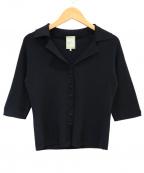 Sybilla(シビラ)の古着「ニットオープンカラーシャツ」 ブラック