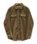 CABAN(キャバン)の古着「コットンコーデュロイウエスタンシャツ」 ベージュ