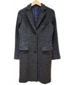 THE SUIT COMPANY(ザスーツカンパニ)の古着「ツイードチェスターコート」|グレー