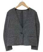 icB(アイシービ)の古着「Karamiノーカラージャケット」|グレー