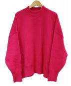 MACPHEE(マカフィー)の古着「コットンスムースビルドネックプルオーバー」 ピンク