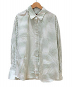 DES PRES(デプレ)の古着「コットンシルクサテンラウンドスリーブシャツ」
