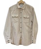 CABAN(キャバン)の古着「コーデュロイウエスタンシャツ」 ベージュ