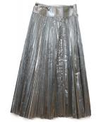 MINEDENIM(マインデニム)の古着「プリーツスカート」|シルバー