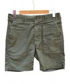 Engineered Garments(エンジニアードガーメン)の古着「ファティーグショーツコットンリップストップ」 カーキ