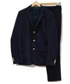 BLUE WORK(ブルーワーク)の古着「ブリティッシュウールセットアップ」 ネイビー