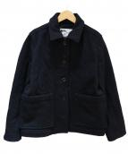 MHL.(エムエイチエル)の古着「TOUGH WOOL MELTONショートコート」|ブラック