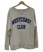 VOTE MAKE NEW CLOTHES(ヴォートメイクニュークローズ)の古着「カレッジスウェット」|アイボリー