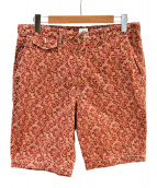 POST OALLS(ポストオーバーオールズ)の古着「MENPOLINI SHORTS」 ブラウン