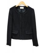 any SiS(エニィスィス)の古着「ノーカラージャケット」|ブラック