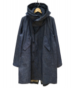 ato(アトウ)の古着「デニムモッズコート」|インディゴ