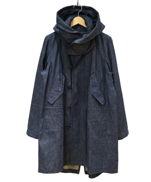 ato(アトウ)ato (アトウ) デニムモッズコート インディゴ サイズ:46の古着・服飾アイテム
