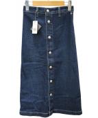 Alexa Chung for AG(アレクサ チャン フォー エージー)の古着「フロントボタンデニムスカート」|インディゴ