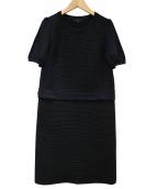 TO BE CHIC(トゥビーシック)の古着「ストレッチニットドレス」|ブラック