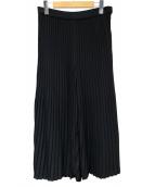 wb(ダブルビ)の古着「プリーツワイドパンツ」|ブラック