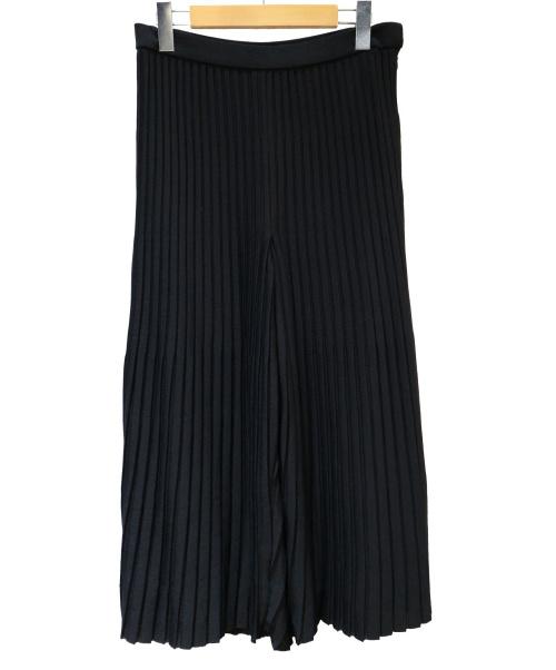 wb(ダブルビー)wb (ダブルビー) プリーツワイドパンツ ブラック サイズ:40の古着・服飾アイテム